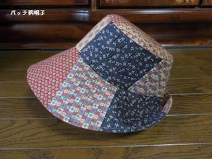 パッチ柄の帽子